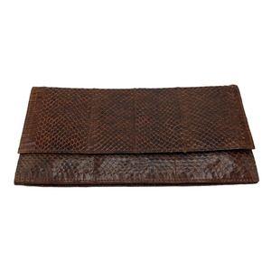 Vintage Clutch Hand Crafted Genuine Snakeskin
